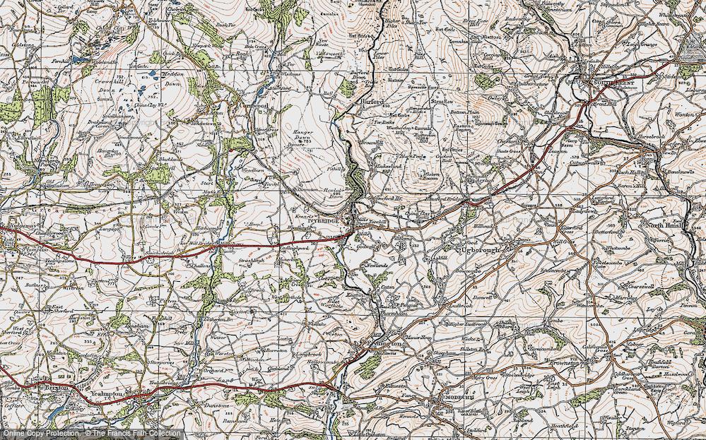 Old Map of Ivybridge, 1919 in 1919