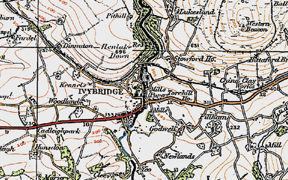 Old map of Yeolands in 1919