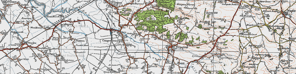Old map of Woolmers in 1919