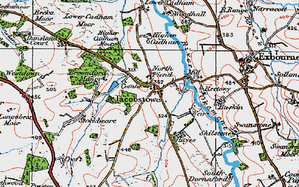 Old map of Westdown in 1919