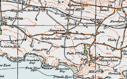 Old map of Jameston in 1922