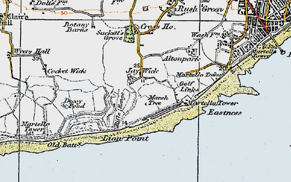 Old map of Jaywick in 1921