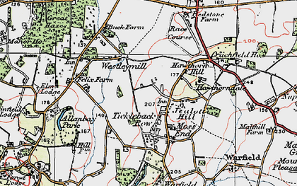 Old map of Westleymill in 1919