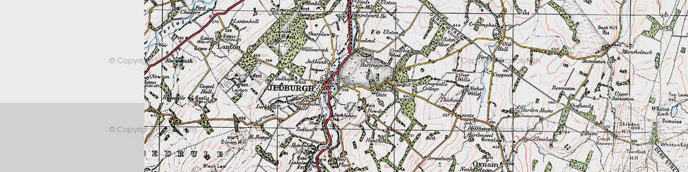 Old map of Woodend in 1926