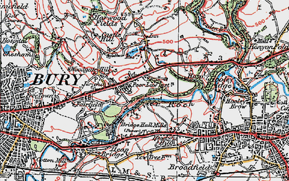 Old map of Jericho in 1924