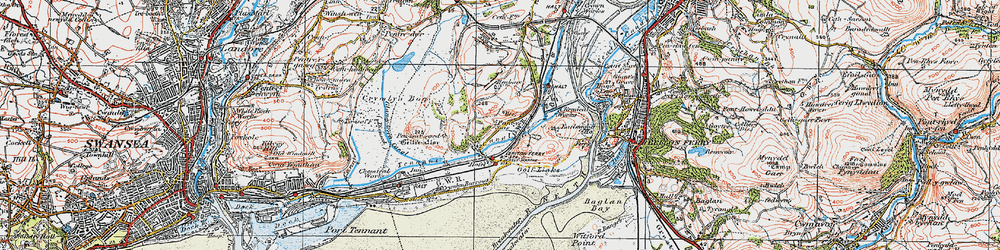 Old map of Jersey Marine in 1923