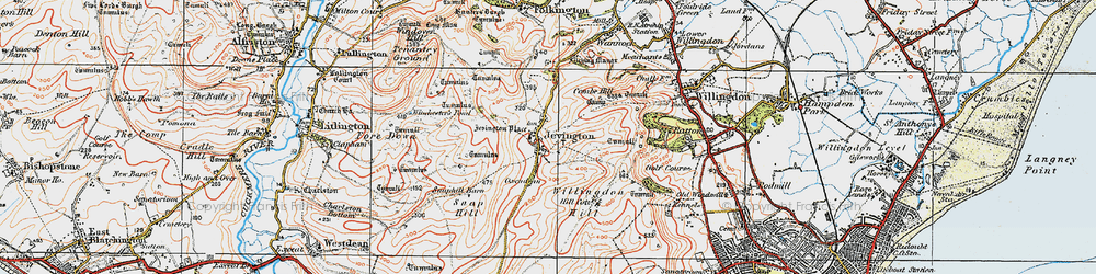 Old map of Willingdon Hill in 1920