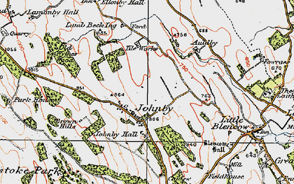 Old map of Auldby in 1925