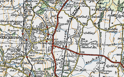 Old map of Johnstown in 1921