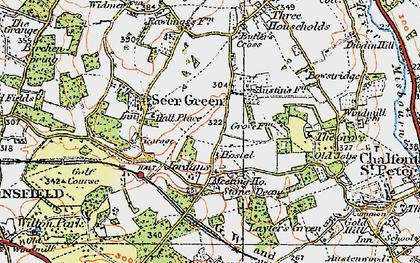 Old map of Jordans in 1920