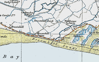 Old map of Wicks, The in 1921