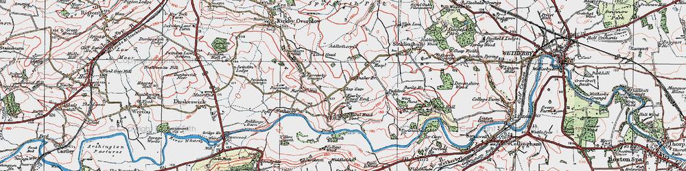 Old map of Addlethorpe Grange in 1925