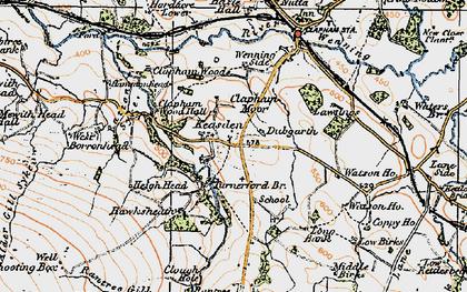 Old map of Lawsings in 1924