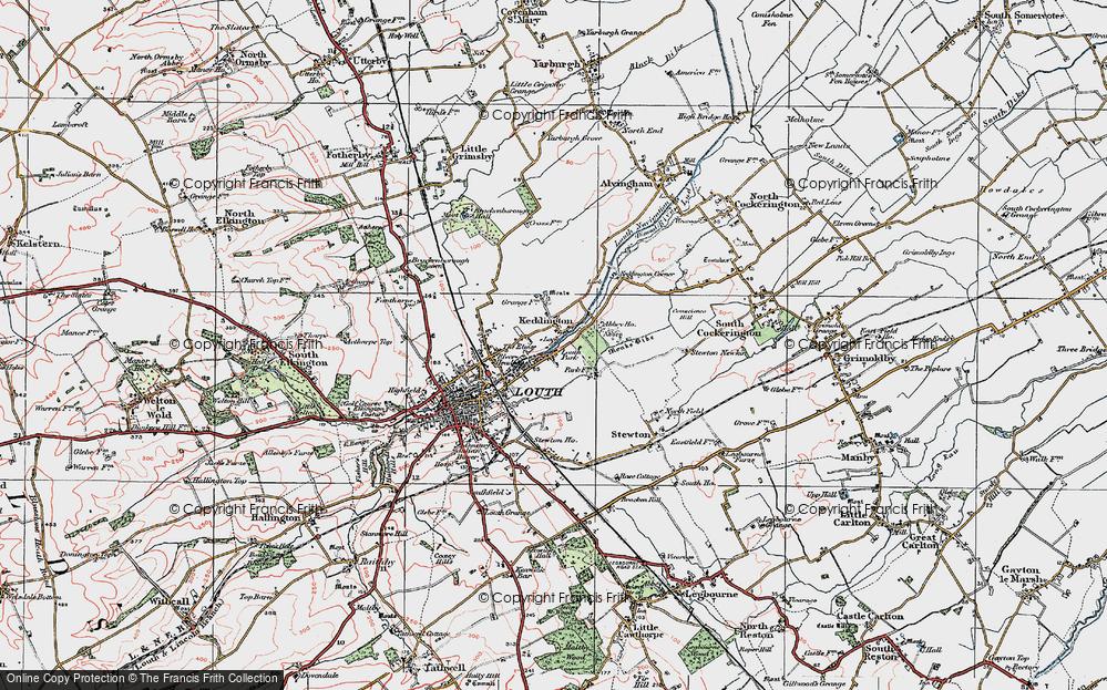 Old Map of Keddington, 1923 in 1923