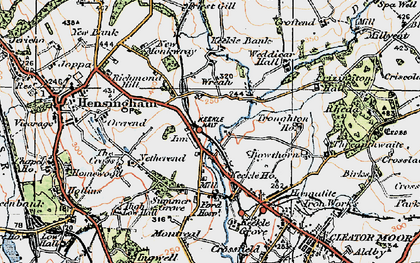 Old map of Wreah in 1925