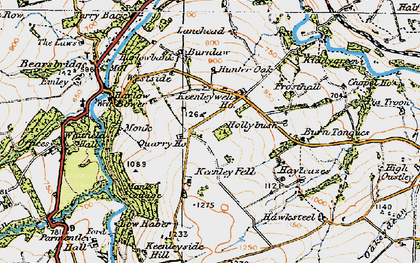 Old map of Lanehead in 1925