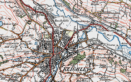 Old map of Keighley in 1925