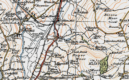 Old map of Kelbrook in 1924