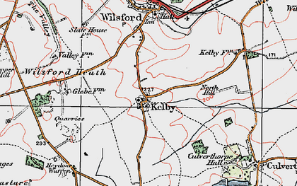 Old map of Wilsford Heath in 1922
