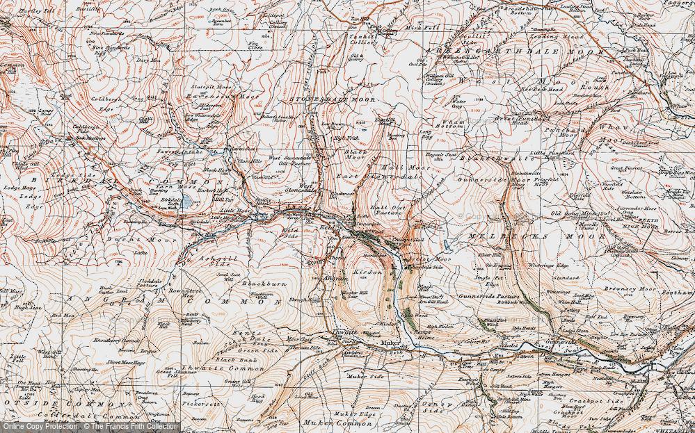Old Map of Keld, 1925 in 1925