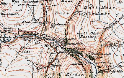 Old map of Keld in 1925