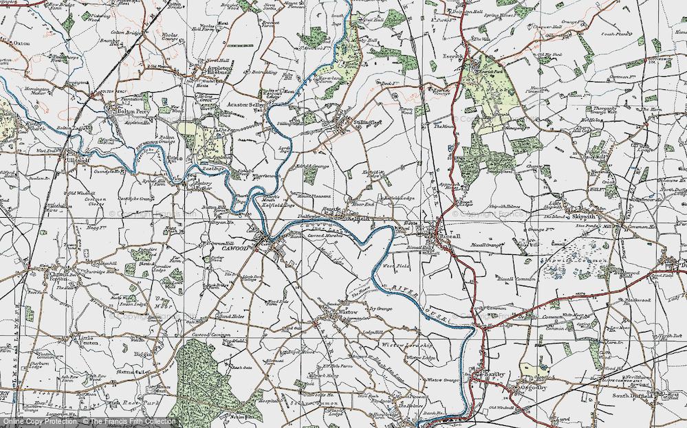 Old Map of Kelfield, 1924 in 1924