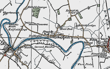 Old map of Wheel Hall in 1924