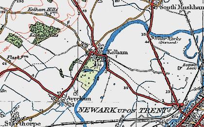 Old map of Kelham in 1923