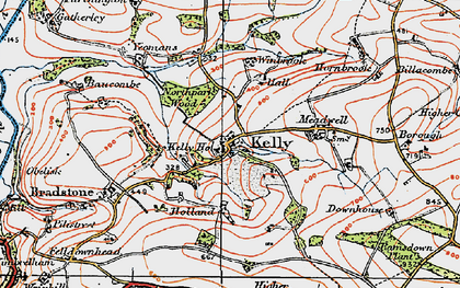 Old map of Winbrook in 1919