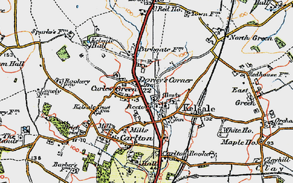 Old map of Kelsale in 1921