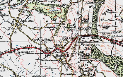 Old map of Kelsall in 1923