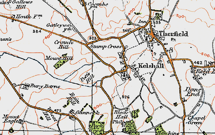 Old map of Woodcotes in 1920