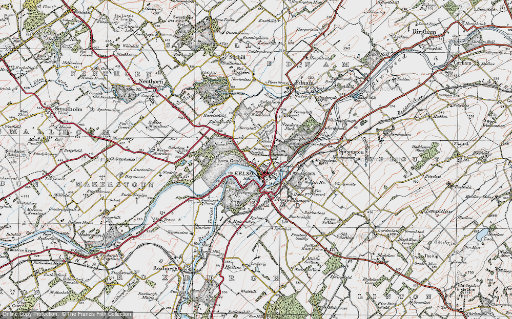 Old Map of Historic Map covering Wooden Mill in 1926