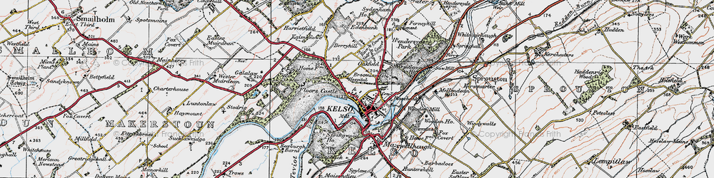 Old map of Wooden Mill in 1926
