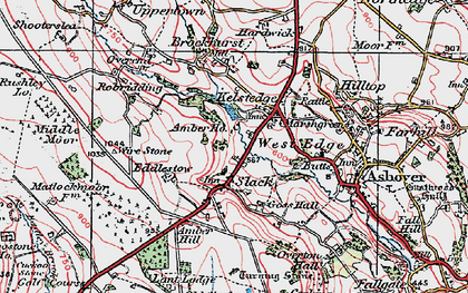 Old map of Amber Ho in 1923
