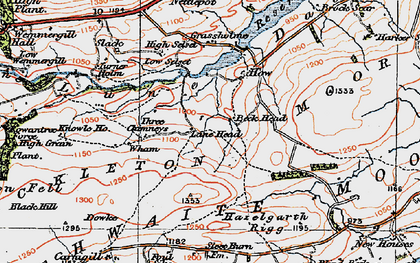 Old map of Balderhead Reservoir in 1925