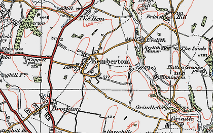 Old map of Kemberton in 1921