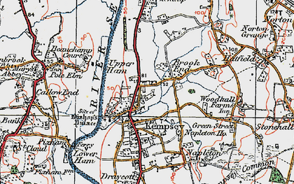 Old map of Kempsey in 1920