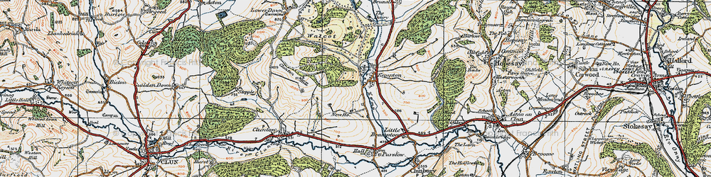 Old map of Kempton in 1920