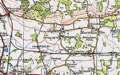 Old map of Kemsing in 1920