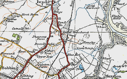 Old map of Kemsley in 1921