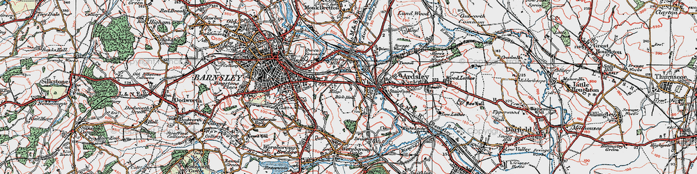 Old map of Kendray in 1924