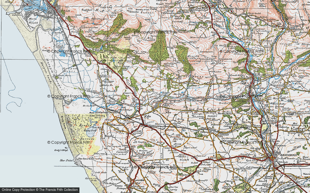 Old Map of Kenfig Hill, 1922 in 1922