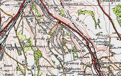 Old map of Kenley in 1920
