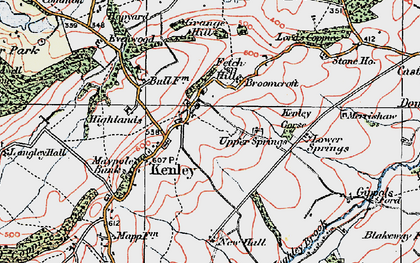 Old map of Kenley in 1921