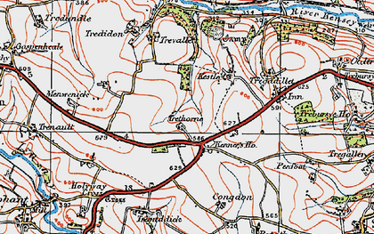 Old map of Kennards House in 1919