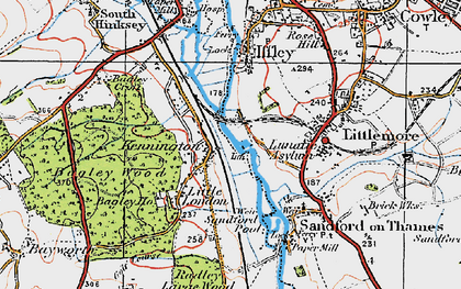 Old map of Bagley Wood in 1919