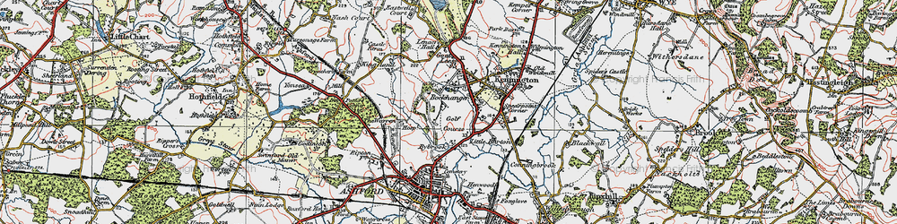 Old map of Kennington in 1921