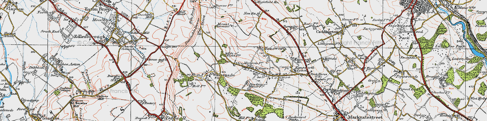 Old map of Whipsnade Heath in 1920