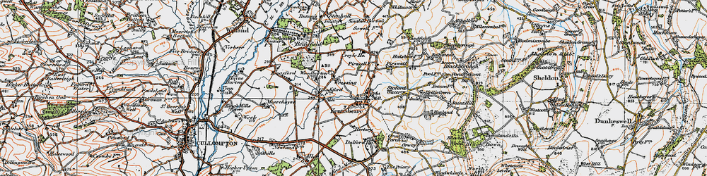 Old map of Wressing in 1919